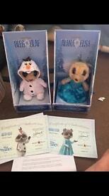 Olaf as Oleg & anya as Elsa