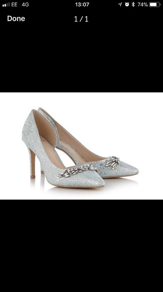 Jenny Packham party occasion cruise shoes immaculate size 4and half