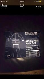 "Regatta Navy kids trousers and jacket set 34"" never worn."