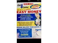 Cash for Cloths 0.50 p/kg