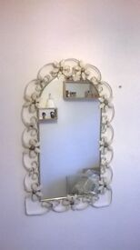Arched Metal Wall Mirror