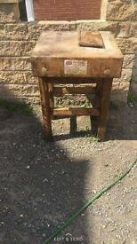 Antique butchers block