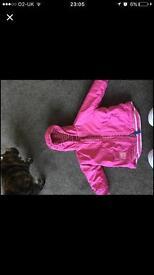 Jojo Maman Bebe coat in pink.