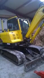 6 ton digger for hire