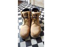 Cat steel toe cap boots worn once uk 11 BS30