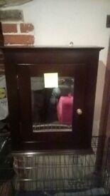 hallway cabinet with mirror
