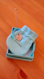 Tiffany and Co heart key pendant