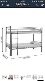 Silver metal bunk beds