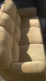 3 seater sofa and chair in good solid condition bargain at £70 can deliver