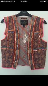 Designer Scotch and soda unique beaded waistcoat
