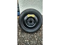15 inch space saver spare wheel (115/70 - 15), new and unused