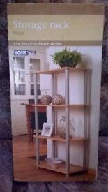 Beech effect storage rack shelves