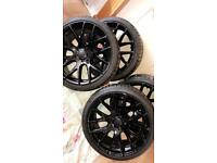 19Inch Golf Blackd Out Rims, Wheels, Tyres,