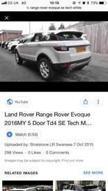 Range Rover evoque SE Tech front and rear bumpers