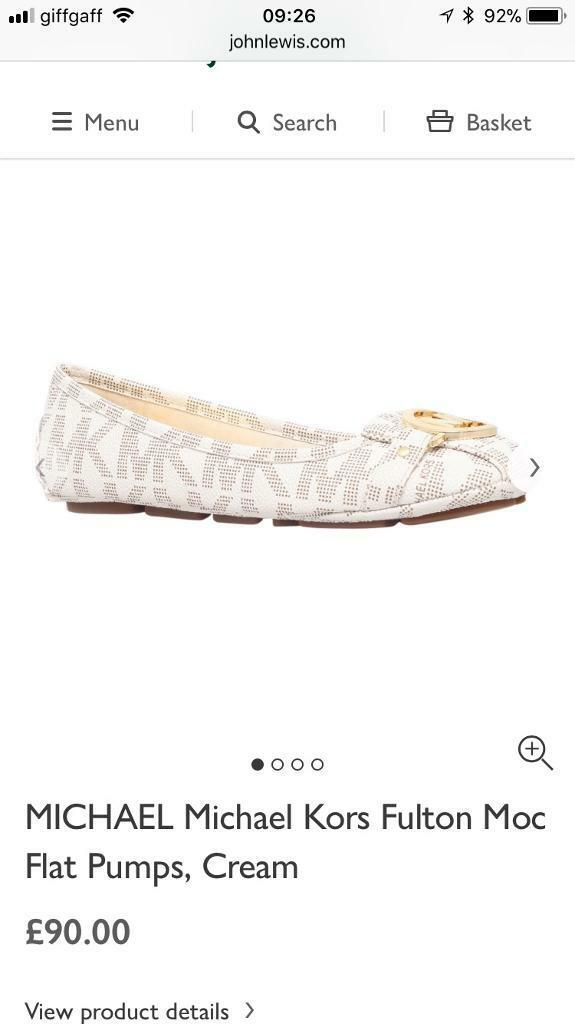 c13fbda061d65 Brand new orignal Michael kors flat shoes either off white or black | in ...