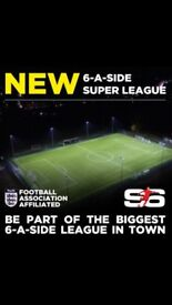 Join your local Sudbury Monday 6aside league today!!