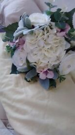Handmade silk bridal bouquet