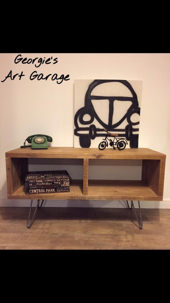Lovley hand made industrial style tv cabinet/media unit- different sizes upon request