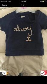 Baby boys next outfit 0-3 months