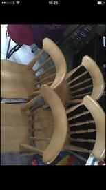 Four solid oak chairs£100