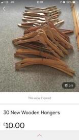30 Wooden Cost Hangers