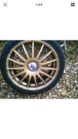 "Subaru Impreza 18"" multi fit alloys tyres"
