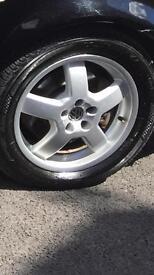Golf 16inch 5x100 alloy wheels