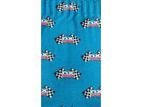 Blue Curtains Grand Prix chequered flag design