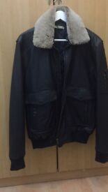 Aviator style Men's Jacket in leather by Bexley - Brand New