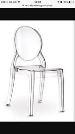 Elizabeth ghost chairs