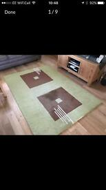 Chocolate and green mat