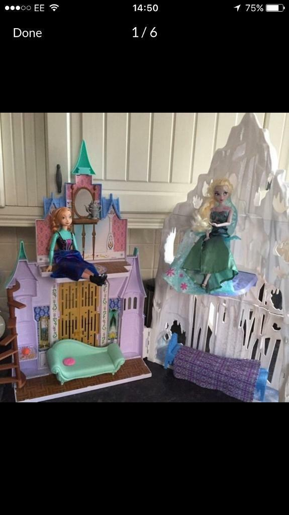 Elsa and Anna castle like new