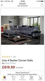 Line 4 seater corner couch