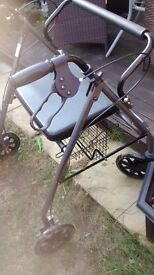 Coopers mobility four wheel walker.