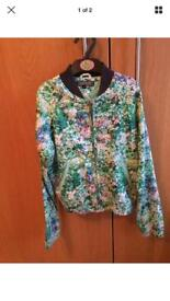 Girls Tommy Hilfiger floral bomber jacket