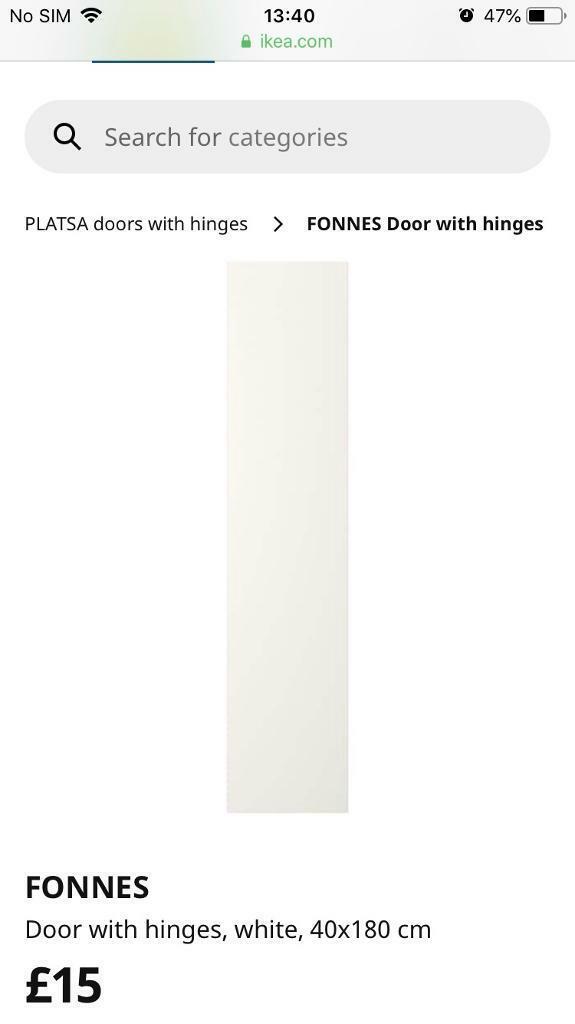 low priced d5137 3b327 FREE Ikea FONNES wardrobe doors (for Plasta wardrobes) | in ...