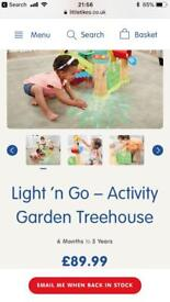 Light and go treehouse activity