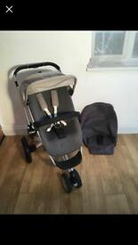 Quinny Buzz Grey Beige Buggy Stroller Pushchair Pram