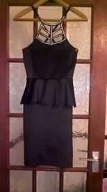 black quiz halterneck dress size 12 (worn once)