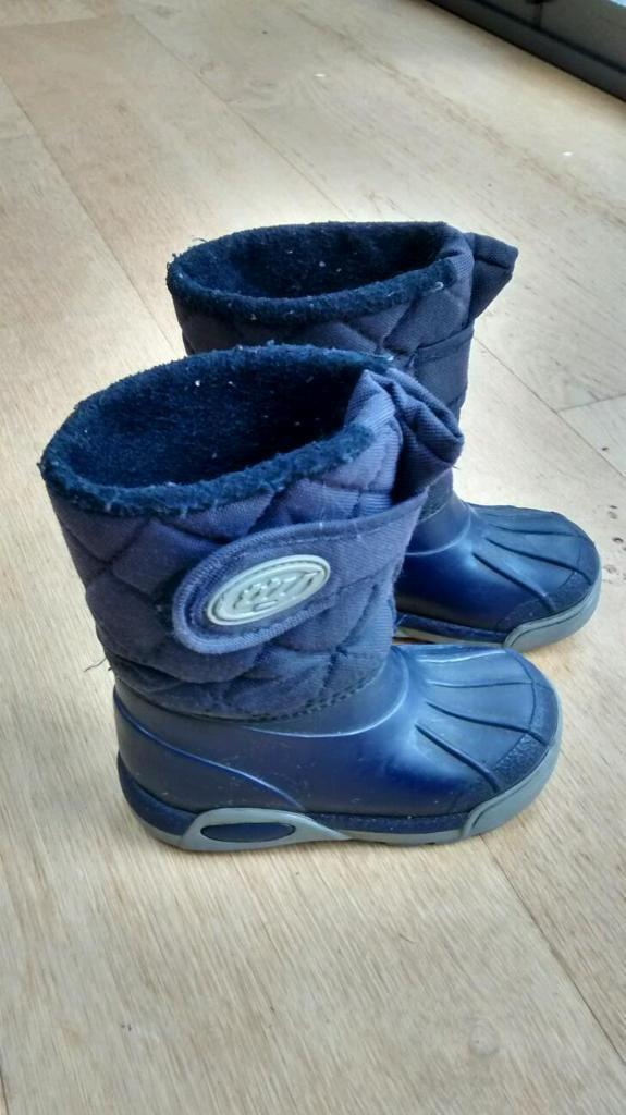 TTY toddler snow boots wellies size 6