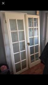 French glazed white doors