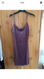 Size 8 purple velvet dress new look