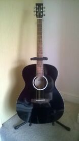 Tanglewood steel string acoustic guitar