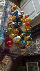 Large collection of novelty rubber ducks