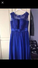 Blue Chiffon Dresses Size 18