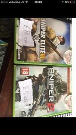 Xbox 360 Sniper elite 3 and sniper 2