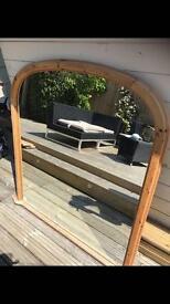 Pine Wood Large Mirror! Excellent Condition!
