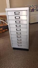 2 x silverline multi drawer filing cabinet
