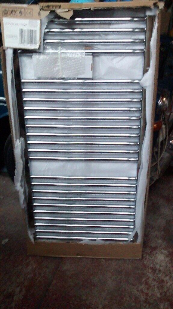 radiator new unused boxed chrome ladder towel warmer