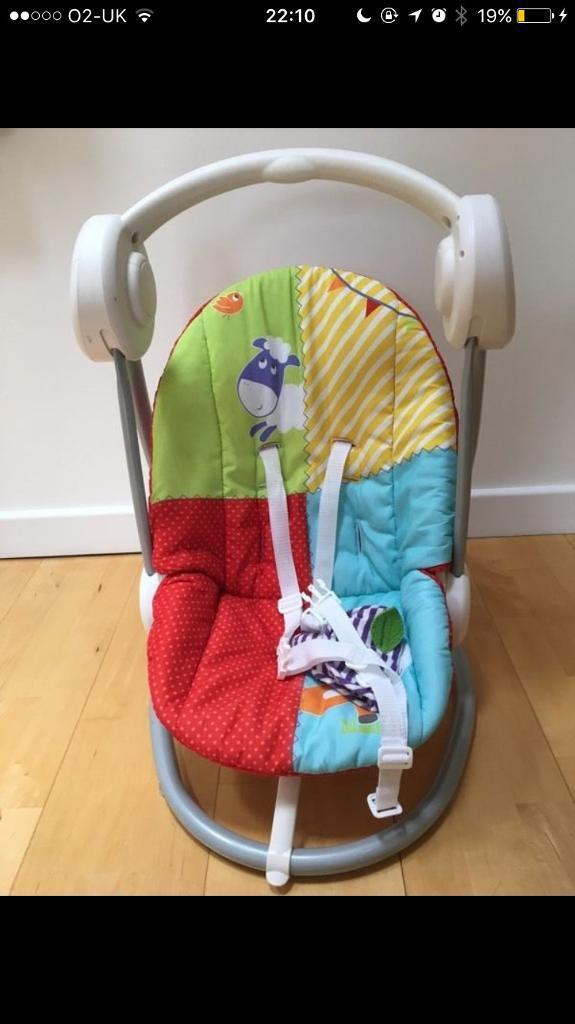 Mamas and Papas automatic rocking chair and high chair
